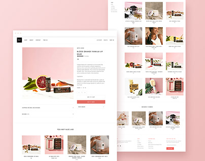 Shopify Theme-Based Design for Body Care Products Brand