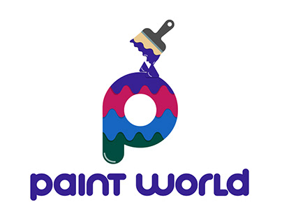 """Paint World"" Logo Design"