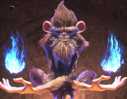 Frostfire Monkey