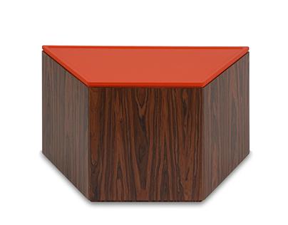 Polygon Storage - Trapezoid Coffee Table