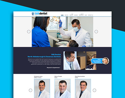 508 Dentist UI Design Website
