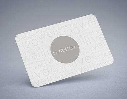 Liveslow | Diseño de folletería y tarjetas personales