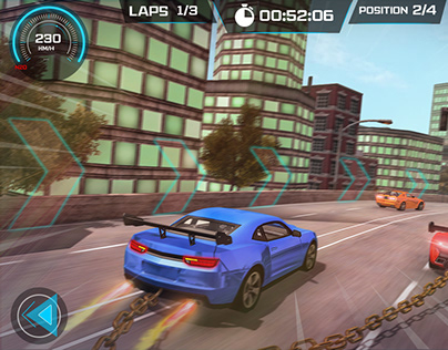 CHAIN CAR RACING GAME