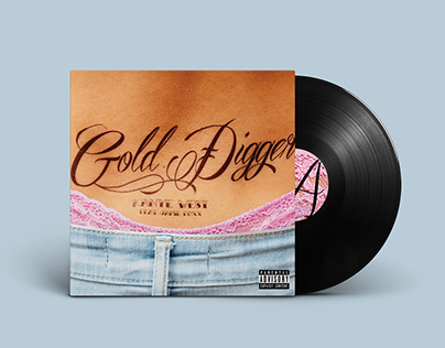 Gold Digger Album Cover | Typography III