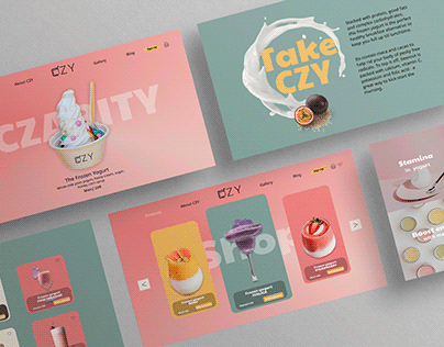 A Landing Page + Shop for a company CZARITY