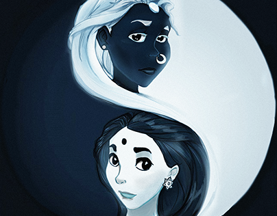 Draupadi and Sita - Yin Yang