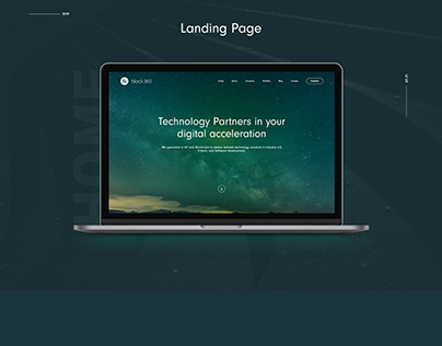 Landing Page for a Blockchain based startup.