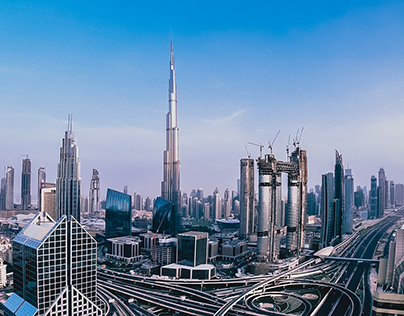 Beautiful Dubai - a tall neighbourhood