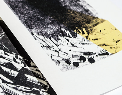 Тhe black lands / monoprints cycle