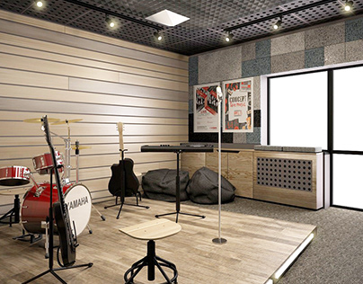MUSIC STUDIO IN THE SCHOOL