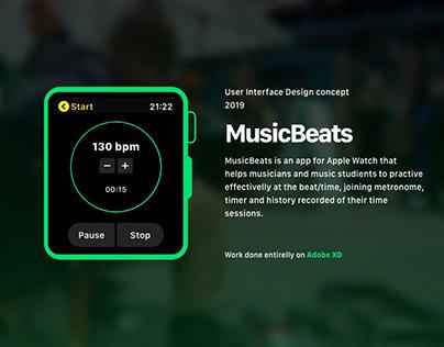 MusicBeats - Apple Watch App Concept