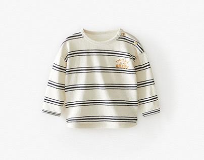 ZARA BABY BOY - Stripped T-shirt w/ embroidery