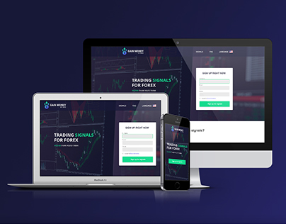 Trading Signals for Forex. Landing Page
