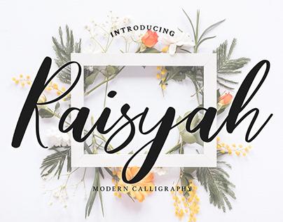 Raisyah Calligraphy Script Font