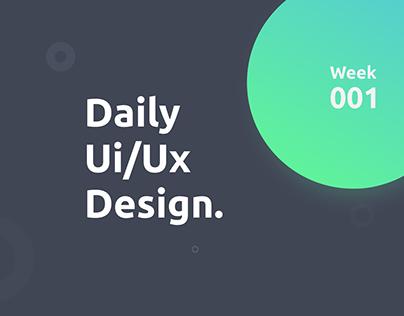 Daily UI Design - Week #001