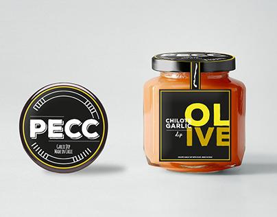 Diseño logo y etiqueta  / Pecc - Pasta chilote