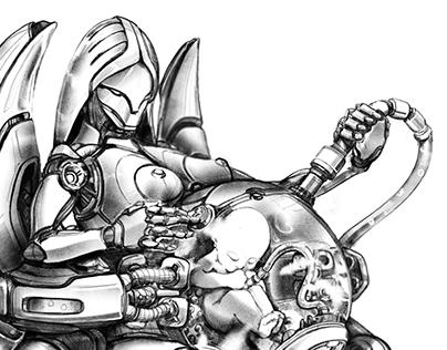 Robot sketches (2016)
