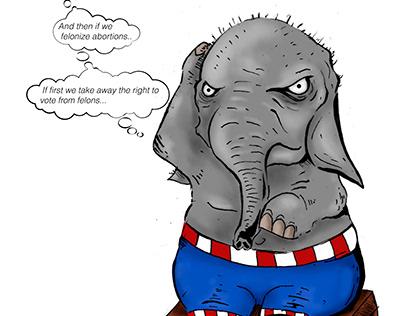 Caricatura con temática política
