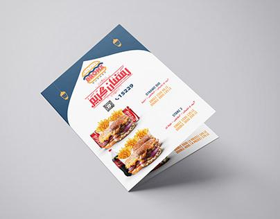 """BRONX BURGER Menu design """"for Ramadan"""""""