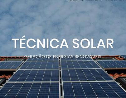 Formulação site Técnica Solar