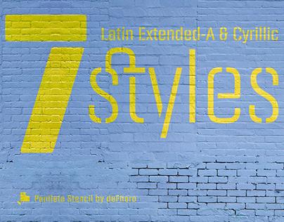 Panfleta Stencil Typeface