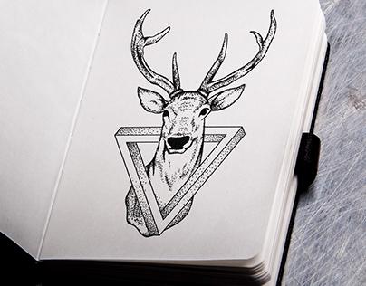 Geometric Tattoo - Deer