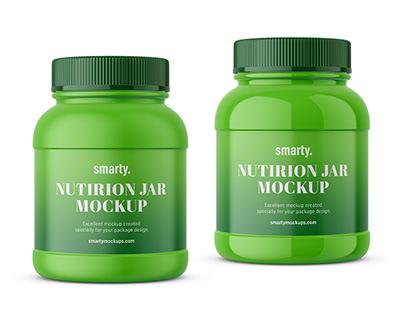 Nutrition jar mockup