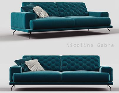 Nicoline sofa Gebra 3d model