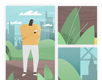 City man illustration