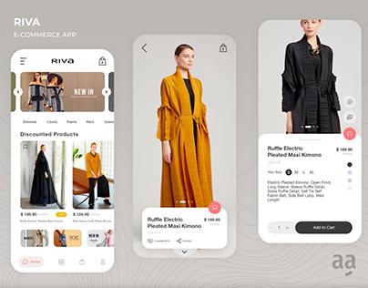 Riva E-Commerce App UI/UX Interface Design