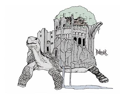Turtle Castle Fantasy Concept art