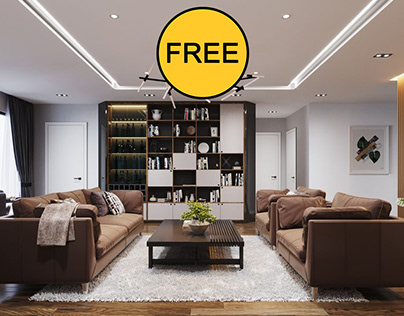FREE Interior Kitchen- Livingroom 722