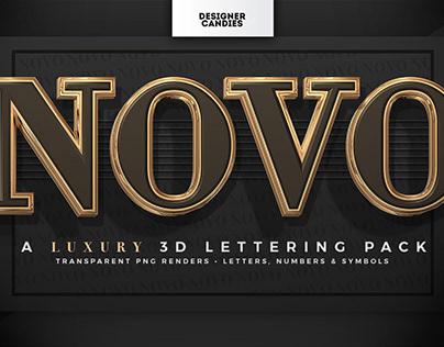 NOVO 3D Lettering PNGs