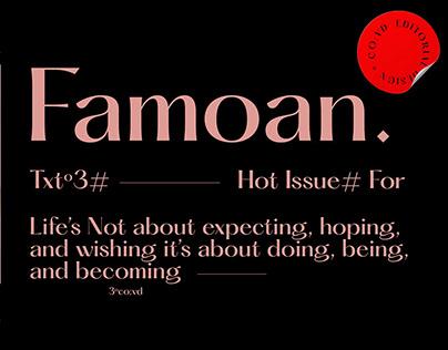 Famoan* - Editorial Design