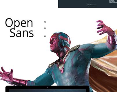 Макет сайта Мстители. Финал