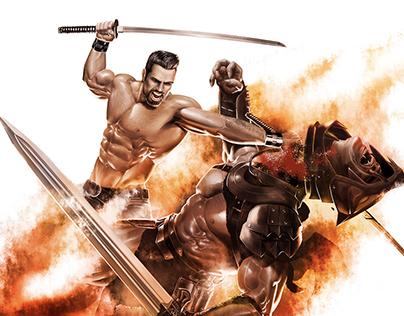 Swordfight - commissioned art