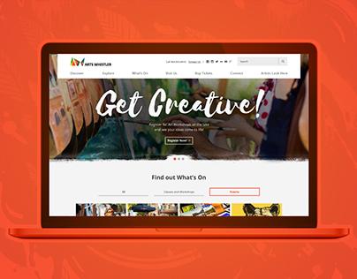 Arts Whistler Website Design