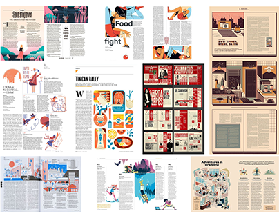 Project 3: Five-page editorial magazine layout process