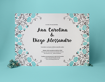 Carol & Diego   Wedding Invitation