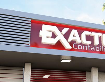 Exactus Contabilidade - Projeto fachada comercial