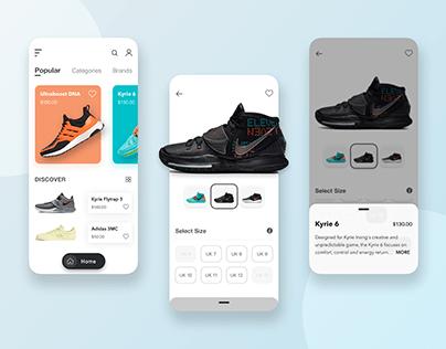 Shop Sneaker UI