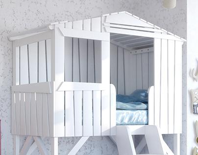 Моделирование и визуализация детских кроваток