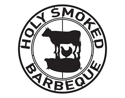 Holy Smoked Barbeque Logo design