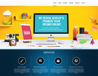 Personal professional website design