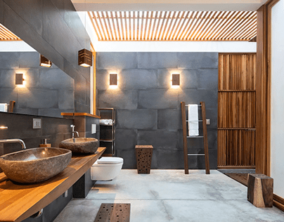 Luxury Bathroom at Villa Akoya