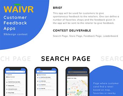 Design waivr - feedback apps - 99design contest