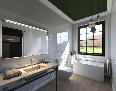One bathroom with 2 layouts