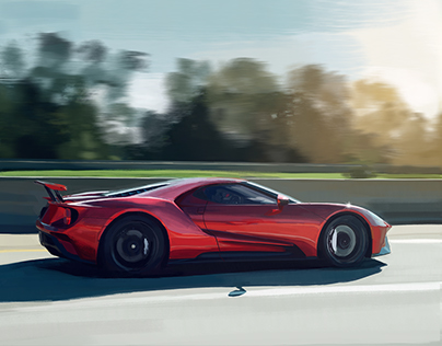 Ford GT Digital Painting