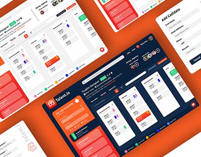 Talent.io ( Recruit Platform Web App) Redesign UI