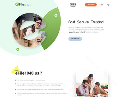 Finance website Design